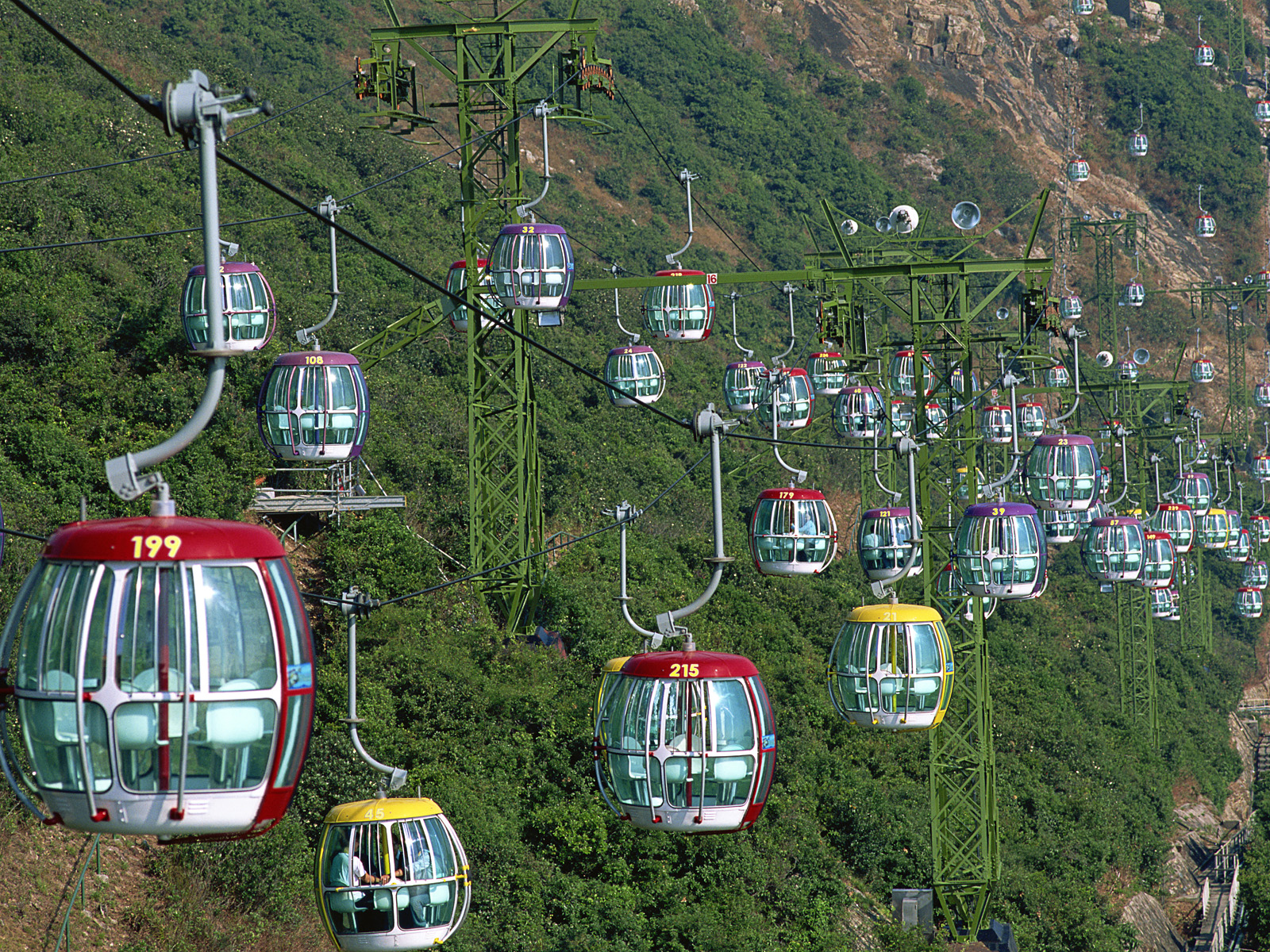 China,Hong Kong,Ocean Park,Gondolas