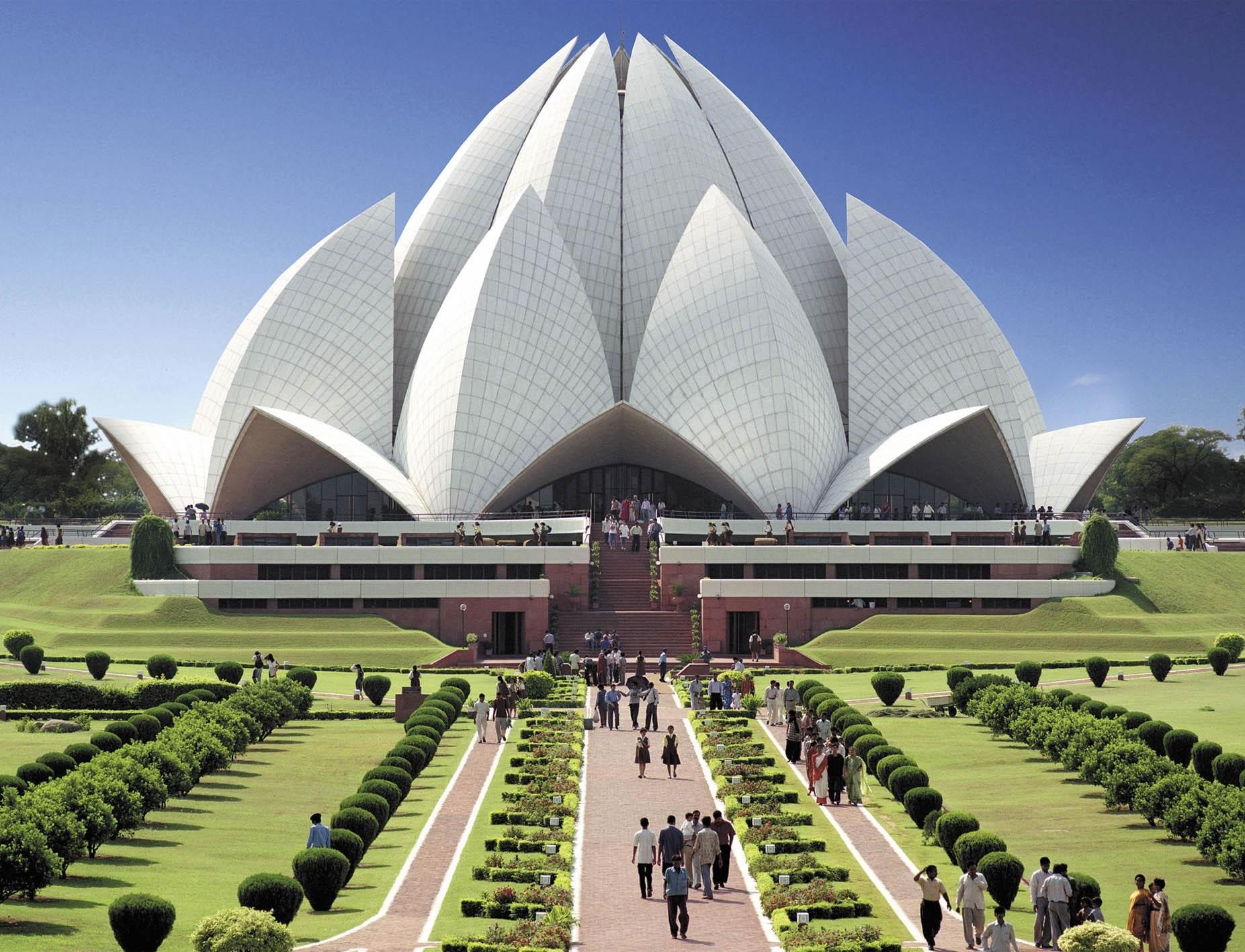 Bahai temple delhi